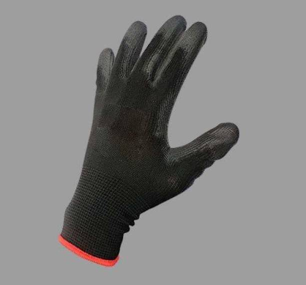 lalith Anti Cut Nylon Safety Hand Gloves pvc cotted(2) Gardening Shoulder Glove