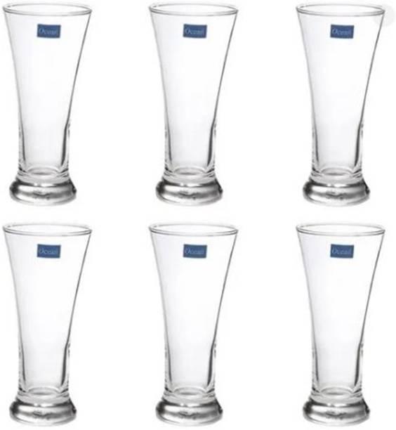 Ocean (Pack of 6) Pilsner 315 ml Water & Juice Glasses Clear Glass Set