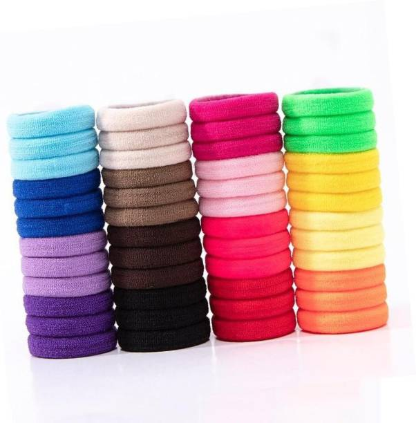 Pancikaa Extra Soft Rubber Hair Bands for young girls (Multicolour) Set of 50 Rubber Band
