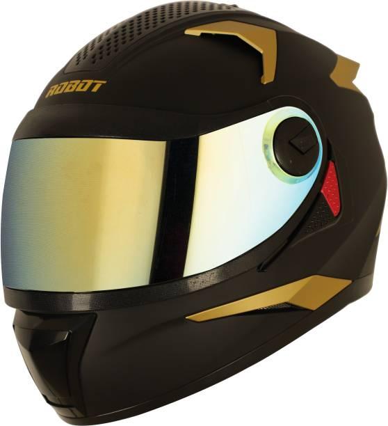 Steelbird SBH-17 Robot Gold Edition Motorbike Helmet