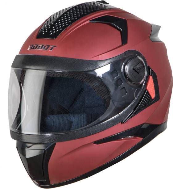 Steelbird SBH-17 Robot Glossy Motorbike Helmet