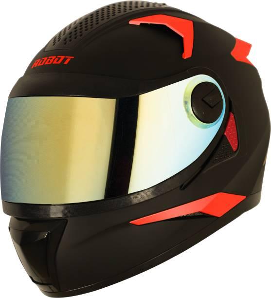 Steelbird sbh-17 Fluroscent Edition Matt Black Motorbike Helmet