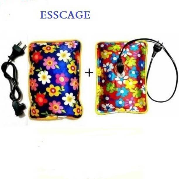 Esscage Combo of Hot Water Bag with Electric Heating Gel Pad Electric Hot Water Bag 1 L Hot Water Bag (Multicolor) Electrical Hot Water Bag 2 L Hot Water Bag (Multicolor) electric 1.5 L Hot Water Bag
