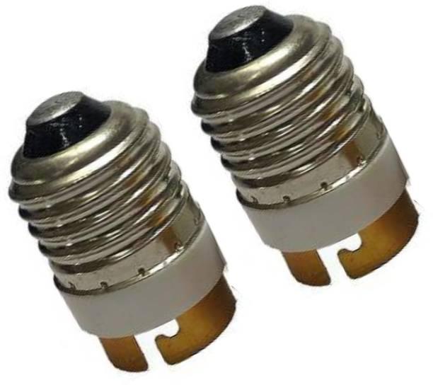 ECOBELL E27 to B22 Plastic Screw Base Socket Lamp Holder Light Bulb Converter Adapter Aluminium Holder Adapter Aluminium Light Socket