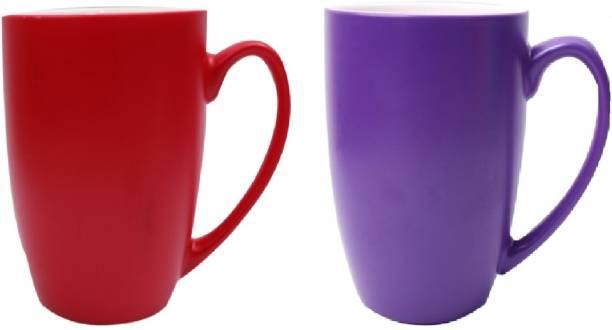 SUPER99 CERAMIC RED-NAVYBLUE COFFEE MUG 350 ML. PACK OF 2 Ceramic Coffee Mug