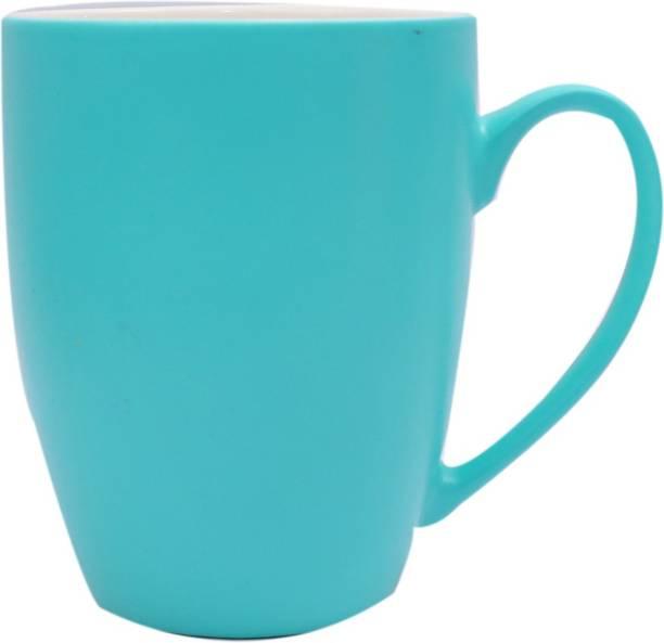 SUPER99 CERAMIC BLUE COFFEE MUG 350 ML. PACK OF 1 Ceramic Coffee Mug