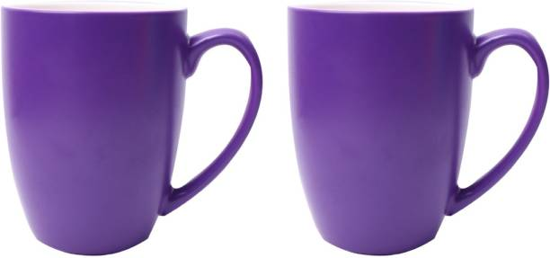 SUPER99 CERAMIC PURPLE COFFEE MUG 350 ML. PACK OF 2 Ceramic Coffee Mug