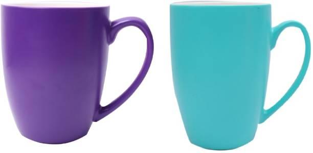 SUPER99 CERAMIC PURPLE-BLUE COFFEE MUG 350 ML. PACK OF 2 Ceramic Coffee Mug