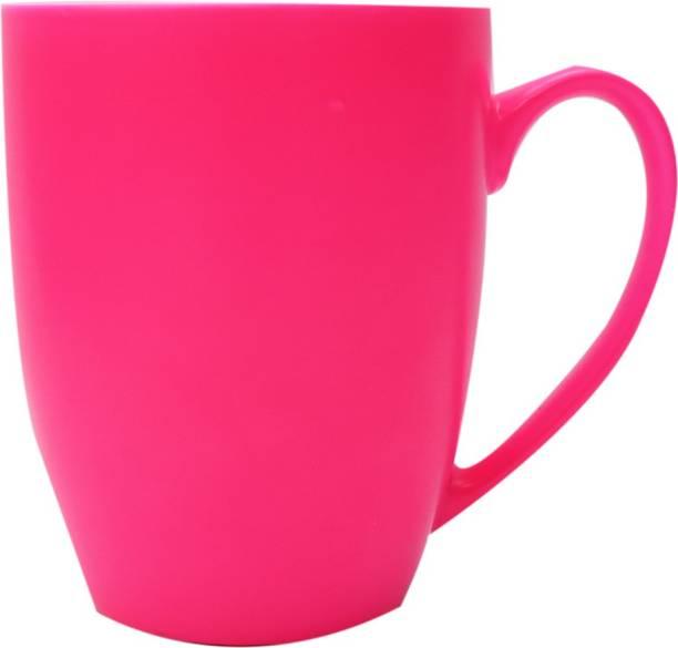 SUPER99 CERAMIC PINK COFFEE MUG 350 ML. PACK OF 1 Ceramic Coffee Mug