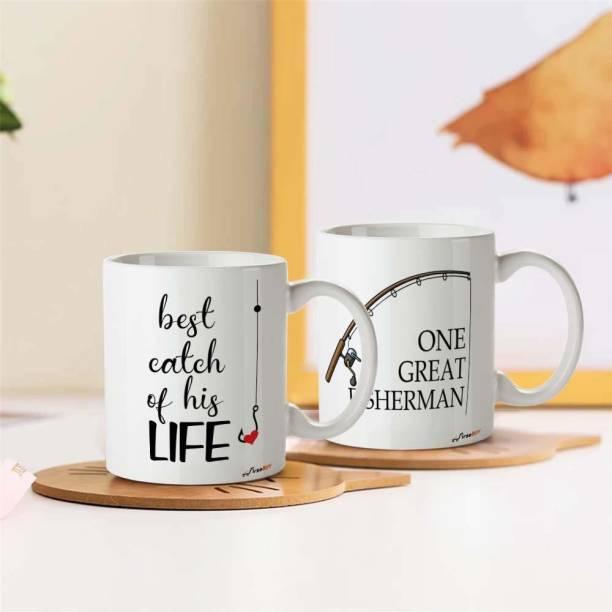 FirseBUY One Great Fisherman, Best Catch of His Life Coffee Ceramic Coffee Mug