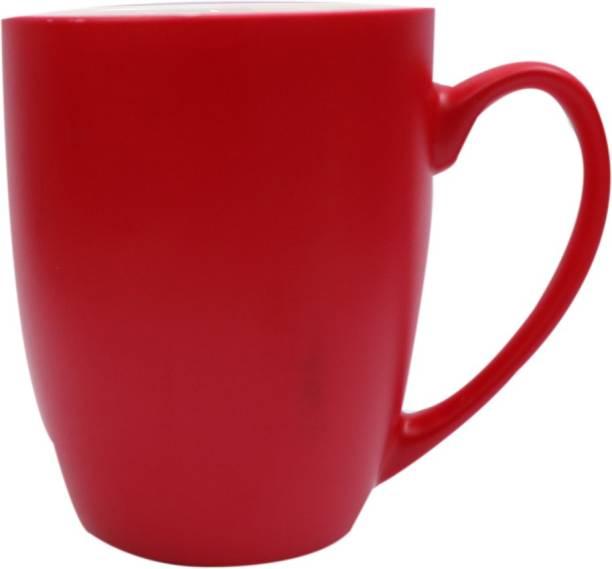 SUPER99 CERAMIC RED COFFEE MUG 350 ML. PACK OF 1 Ceramic Coffee Mug