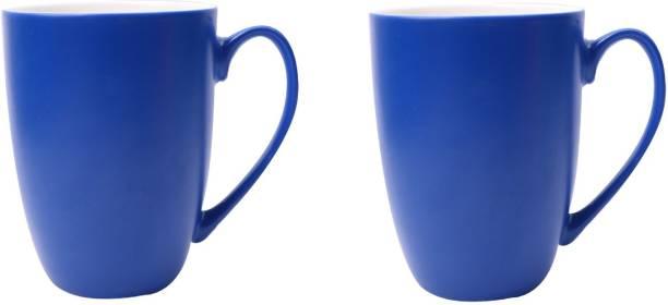 SUPER99 CERAMIC NAVYBLUE COFFEE MUG 350 ML. PACK OF 2 Ceramic Coffee Mug