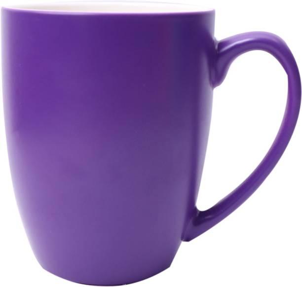 SUPER99 CERAMIC PURPLE COFFEE MUG 350 ML. PACK OF 1 Ceramic Coffee Mug