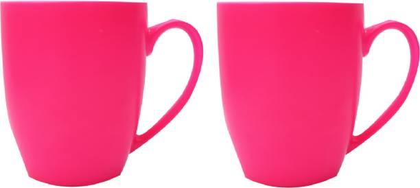SUPER99 CERAMIC PINK COFFEE MUG 350 ML. PACK OF 2 Ceramic Coffee Mug
