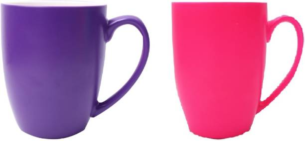 SUPER99 CERAMIC PURPLE-PINK COFFEE MUG 350 ML. PACK OF 2 Ceramic Coffee Mug