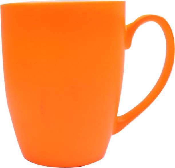 SUPER99 CERAMIC ORANGE COFFEE MUG 350 ML. PACK OF 1 Ceramic Coffee Mug