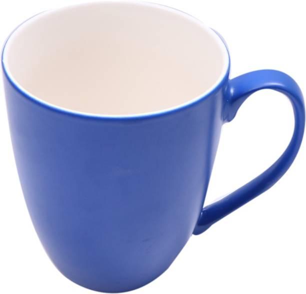 SUPER99 CERAMIC NAVYBLUE COFFEE MUG 350 ML. PACK OF 1 Ceramic Coffee Mug