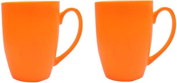 SUPER99 CERAMIC ORANGE COFFEE MUG 350 ML. PACK OF 2 Ceramic Coffee Mug