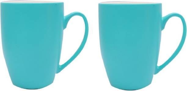 SUPER99 CERAMIC BLUE COFFEE MUG 350 ML. PACK OF 2 Ceramic Coffee Mug