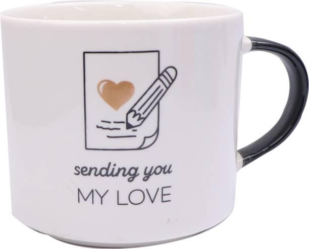 SUPER99 CERAMIC WHITE MY LOVE MUG 480 ML. PACK OF 1 Ceramic Coffee Mug