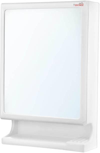 I Homz New Look Multipurpose Bathroom Mirror cabinet Plastic Wall Shelf