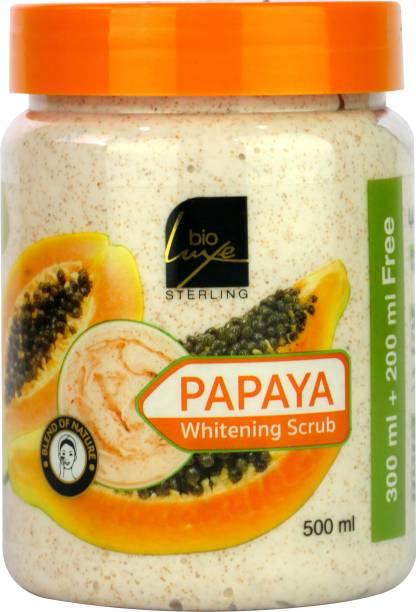 BIO LUXE Papaya Whitening Scrub 500ML Skin Care Scrub