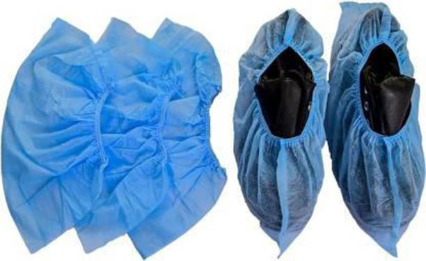 E-Shoppe sucvr10 PP (Polypropylene) Blue Boots Shoe Cover, Flat Shoe Cover, Toes Shoe Cover