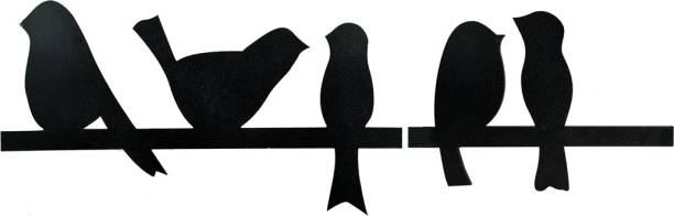 Sehaz Artworks 5 Bird Plaque Sign - Black Sign