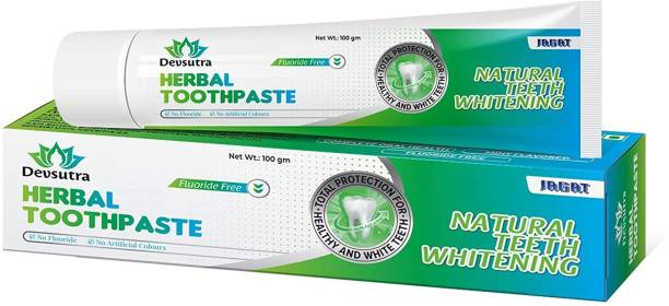 Jagat Dr. Recommended Ayurvedic HERBAL Fresh Mint Flavour Toothpaste - 100% Natural Teeth Whitening Formula with No Fluoride & No Artificial Colours Toothpaste