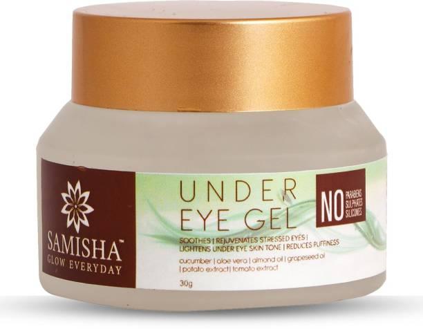 Samisha Organic Under Eye Dark Circles Removal Gel For Reducing Puffiness & Eye Bags - 30 GM