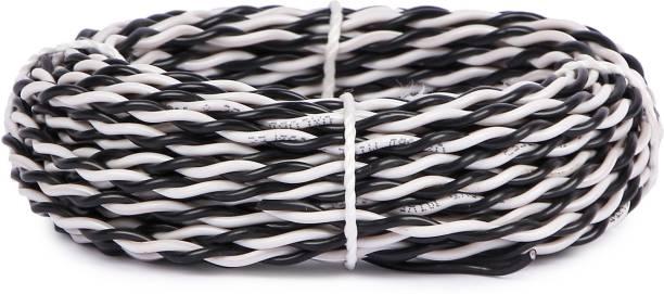 Oxcord 30/76 2 Core Copper Flexible PVC 15 Meter Black 15 m Wire