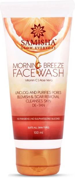 Samisha Organic Vitamin C Skin Brightening  For Skin Pigmentation & Acne Free Radiant Skin - 100 Ml Face Wash