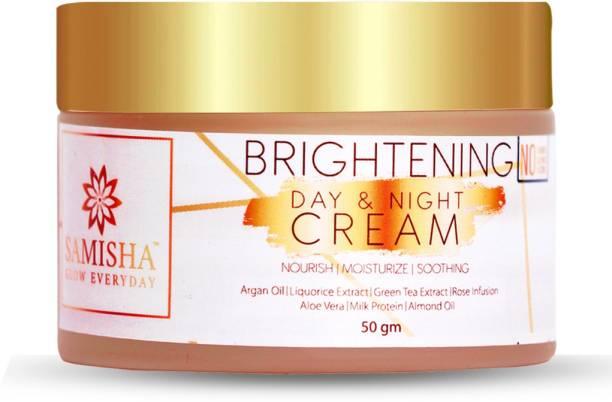 Samisha Organic Brightening Day & Night Face Cream For Skin Nourishment, Hydration & Blemish Removal - 50 GM