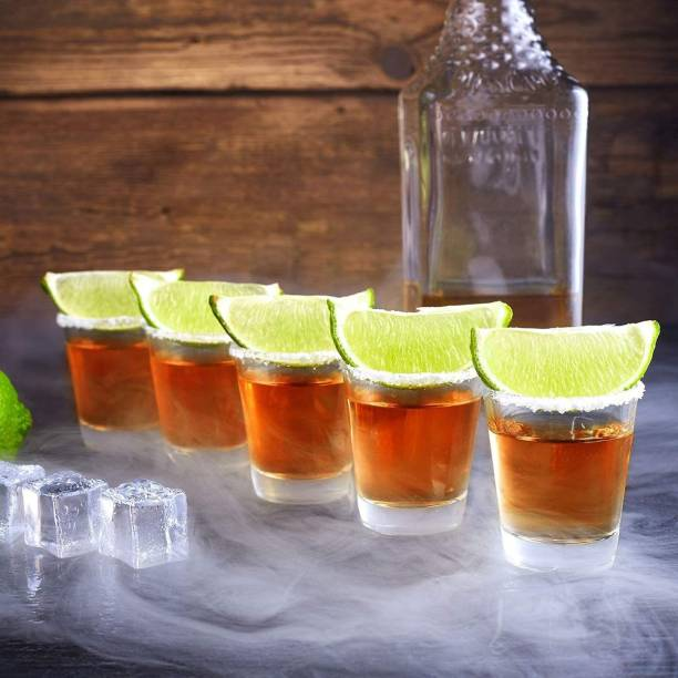 Tom & Gee (Pack of 6) High Quality Tequila and Vodka Shots Glass, Transparent Shots Glass, (Pack of 6 Glass Set) Glass Set