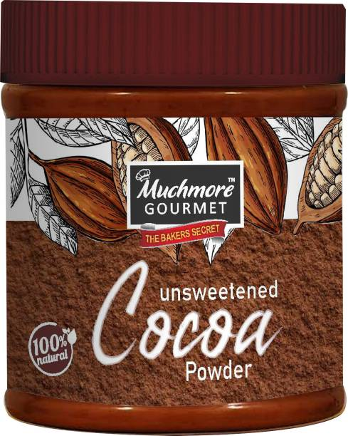 Muchmore Gourmet|Cocoa Powder|Cake|Unsweetened|Baking|For Chocolate|Raw|Organic|No Sugar|Easy Store Pack Cocoa Powder