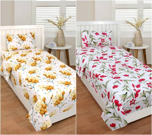 Luxury Trends 140 TC Cotton Single Printed Bedsheet