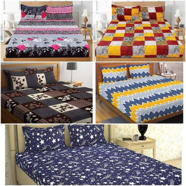 Luxury Trends 144 TC Cotton Double King Printed Bedsheet