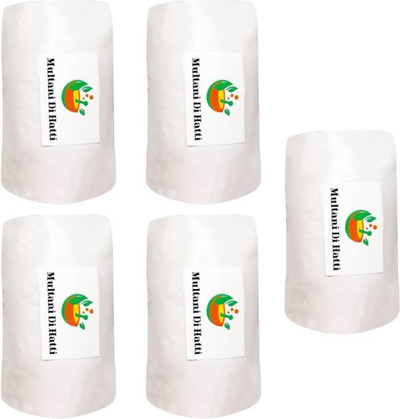 Multani Di Hatti Surgical Pure Fine Quality Cotton Sterilized Free From Bacteria - Pack of 5 Cotton Roll (350 gram , Pure White ) Gauze Medical Dressing