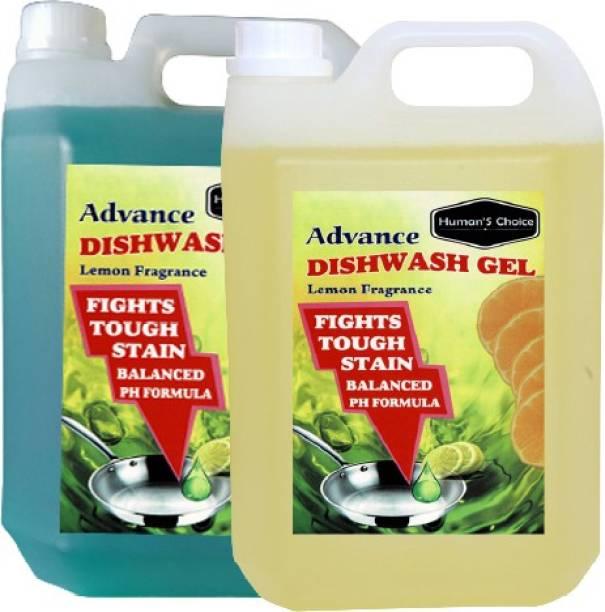 Humans choice Advance Dishwash Gel With Lemon Fragrance 2L Dish Cleaning Gel