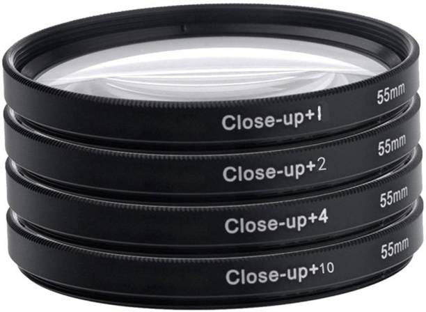 Hanumex 55Mm Delux Close Up Lens Filter Kit For Sony 18-55Mm 55-250Mm Alpha Dslr Digital Camera UV Filter