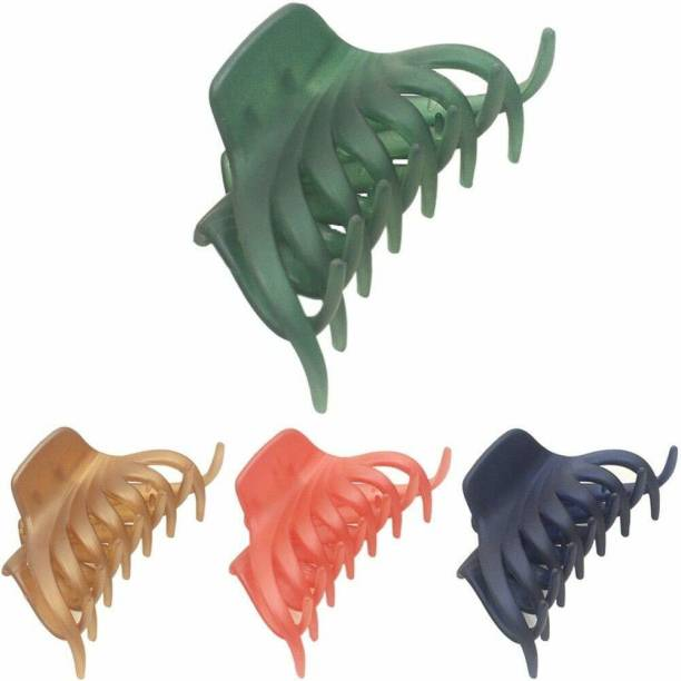 VAGHBHATT Hair Claw Clips for Women, Hair Accessories for Girls Women (Pack of 4) Hair Claw