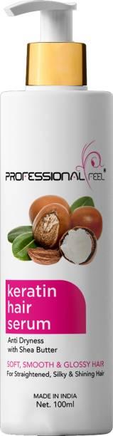 PROFESSIONAL FEEL Keratin Hair Serum For Soft, Smooth & Glossy Hair