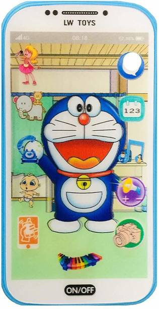 VBE Kids My First Touch Screen Mobile with Light and Sound Effect, A Neck Holder with Random Character Smartphone Toy