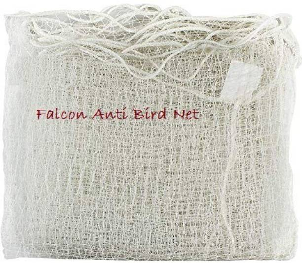 Falcon Pigeon Control Anti Bird Net 10 Foot X 10 Foot in 100 Sq.Ft (White Color) Camping Net