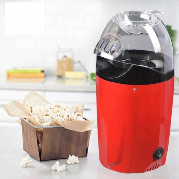 pavilion mall Popper Electric Machine Snack Maker, with Measuring Cup and Removable Lid/Instant Popcorn Grade Aluminum Alloy Oil Free Popcorn Maker Popper Popcorn maker Machine Snack Maker, with Measuring Cup and Removable Lid/Instant Popcorn Grade Aluminium Alloy Oil Free Popcorn Maker, Hot Air Popcorn 1 L Popcorn Maker