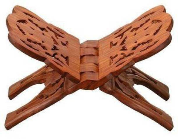 SBBCO Pooja Book Stand/Rehal/Wooden holy Book Stand/Wooden Book Stand/Ramayan - Geeta Stand Wooden Brown Rehal