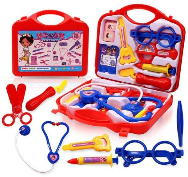 gorgeous moment Doctor Play Set with Foldable Suitcase,Doctor Set Toy Game Kit,Compact Medical Accessories Toy Set Pretend Play Sets,Docter Kit Toy for Kids,Boys,Girls...