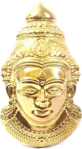 lugade's Brass Lakshmi Mukhota Decorative Showpiece  -  15 cm