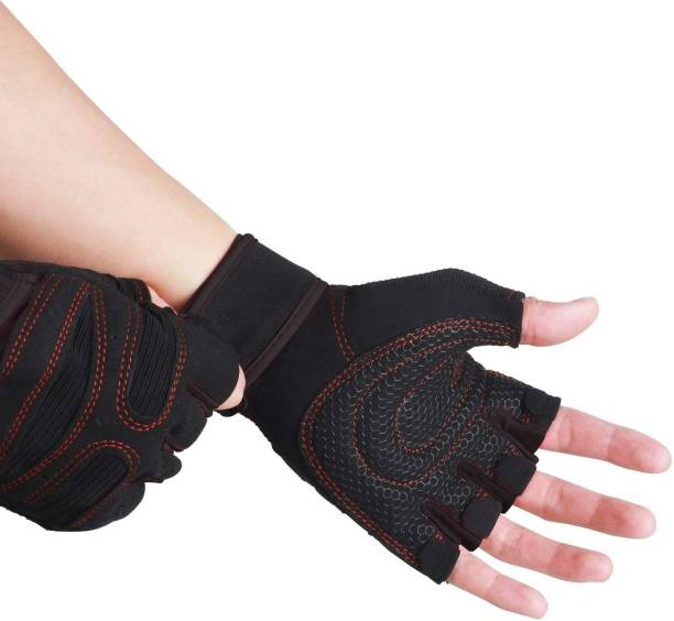 Leosportz silicone grip Fingerless Gloves for Motorbike Motorcycle Climbing Hiking Hunting Cycling Gloves