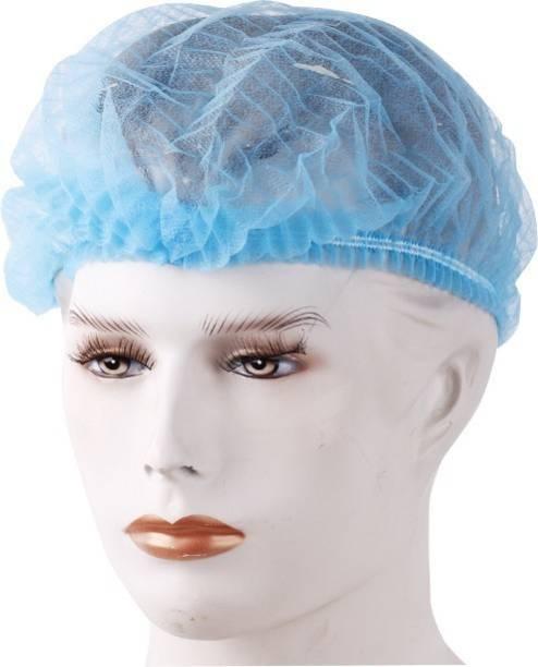 Medex 100 Pcs Disposable Non Woven Bouffant (White) Surgical Head Cap